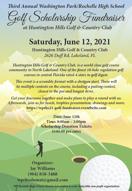 3rd Annual Washington Park/Rochelle High School Golf Scholarship Fundraiser @ Huntington Hills Golf and Country Club
